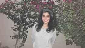 Loujain al Hathloul, tras ser liberada.