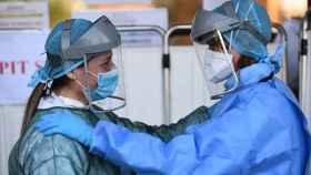 Personal sanitario en un hospital de Italia.