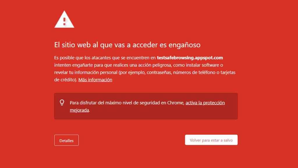 Navegadores como Chrome usan Google Safe Browsing contra el phishing
