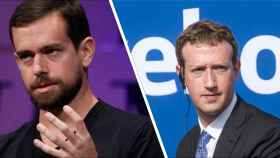 Mark Zuckerberg y Jack Dorsey.