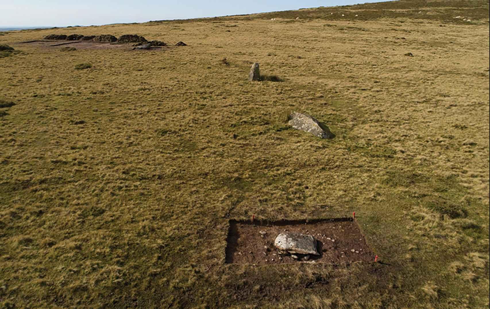 Las piedras que sobreviven de Waun Mawn.