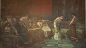 Fulvia y Marco Antonio, o La venganza de Fulvia, cuadro de Francisco Maura y Montaner.