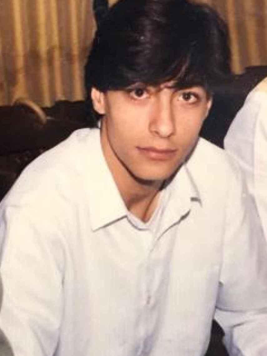 Juan del Val, en una imagen de su adolescencia.