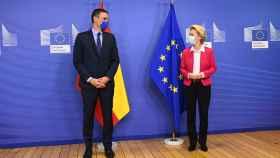 Pedro Sánchez, presidente de España, y Úrsula Von der Leyen, presidenta de la Comisión Europea.