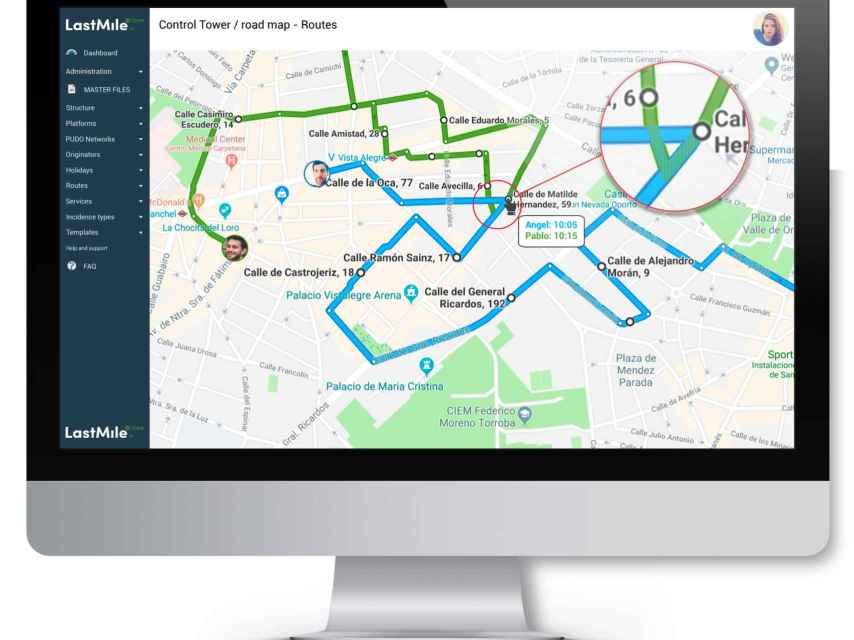 Imagen de la plataforma de Last Mile para optimizar el transporte por carretera.