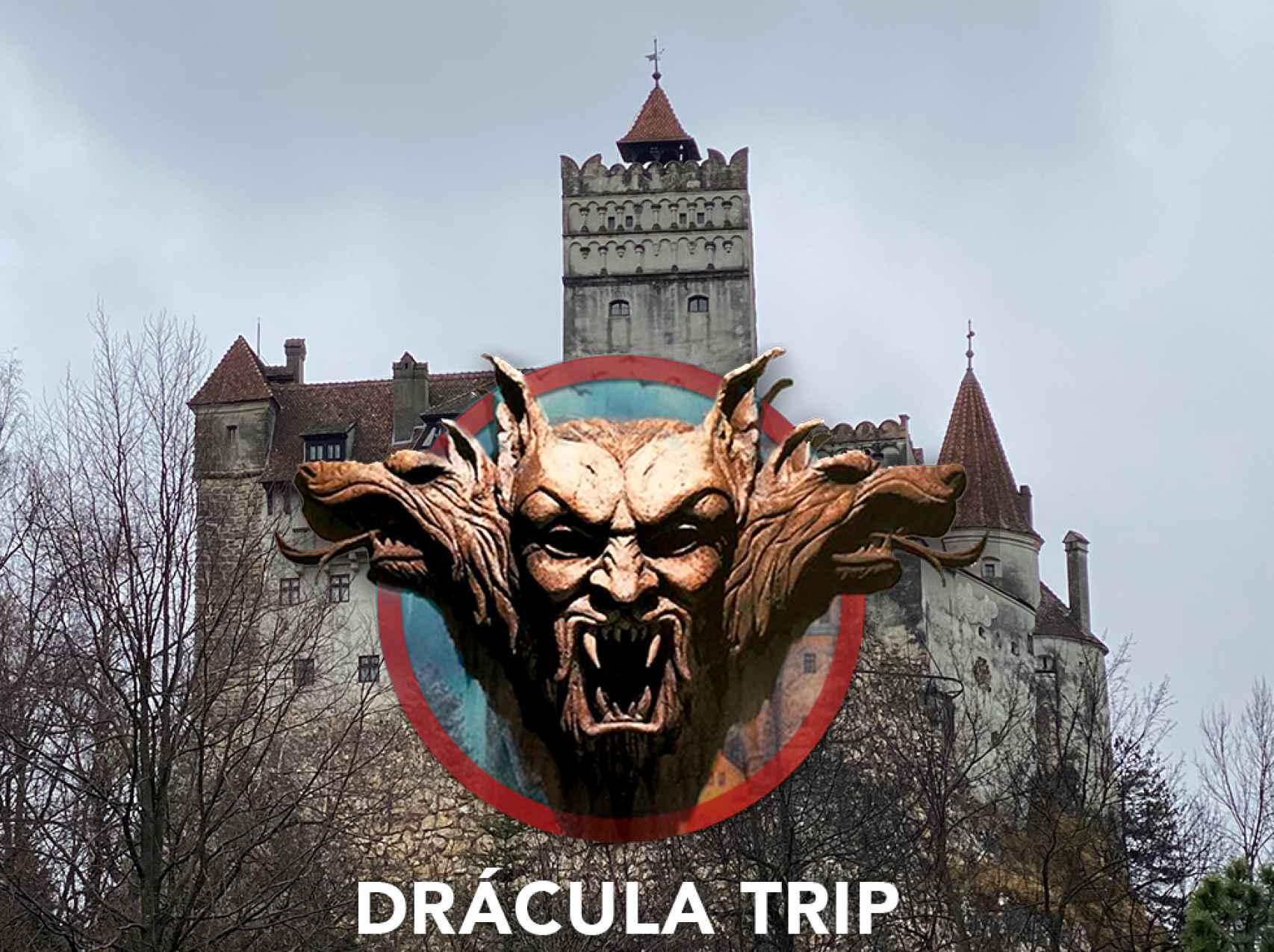 Cartel del viaje al Castillo del Conde Drácula.