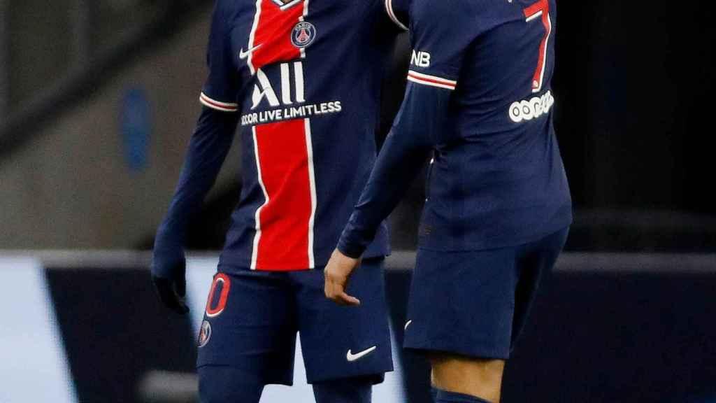 Neymar Jr. y Kylian Mbappé