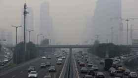 Pekín cubierto de contaminación en una imagen de archivo.