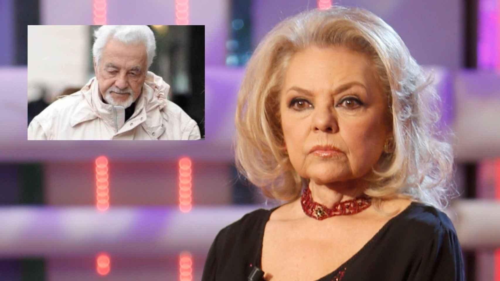 Mayra Gómez Kemp en montaje de JALEOS junto a su marido fallecido, Alberto Berco.