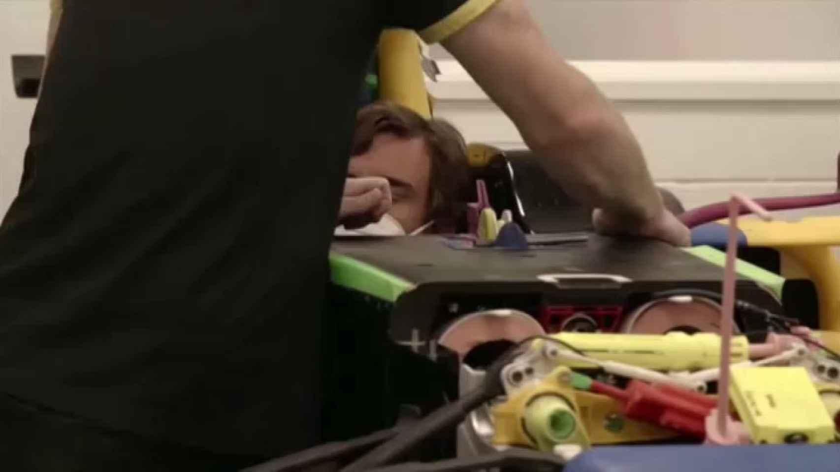 Fernando Alonso, hospitalizado tras sufrir un atropello mientras entrenaba con la bicicleta