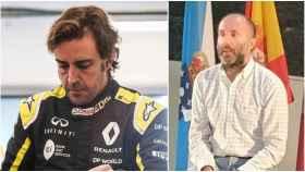 Fernando Alonso y el alcalde de Ourense en un collage