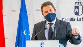 Emiliano García-Page, presidente de Castilla-La Mancha, en una imagen de este viernes en Guadalajara