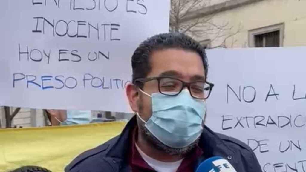 Winston Flores, diputado opositor de la Asamblea Nacional legítima de Venezuela, ante el Tribunal Supremo, en Madrid.