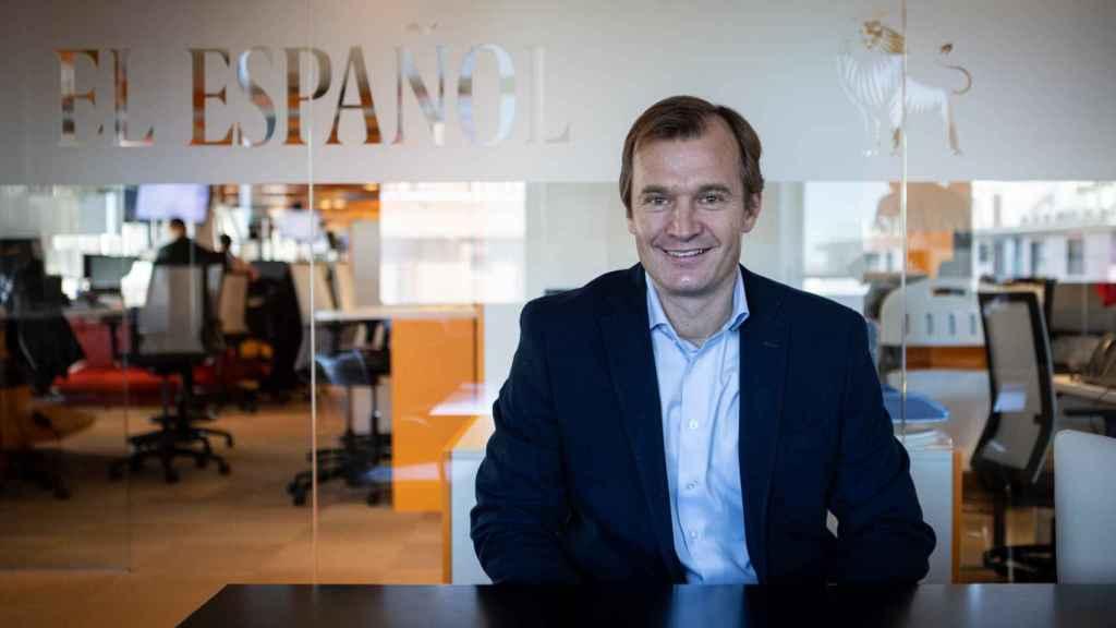 Meinrad Spenger, CEO de MásMóvil, durante un momento de su entrevista con Invertia.