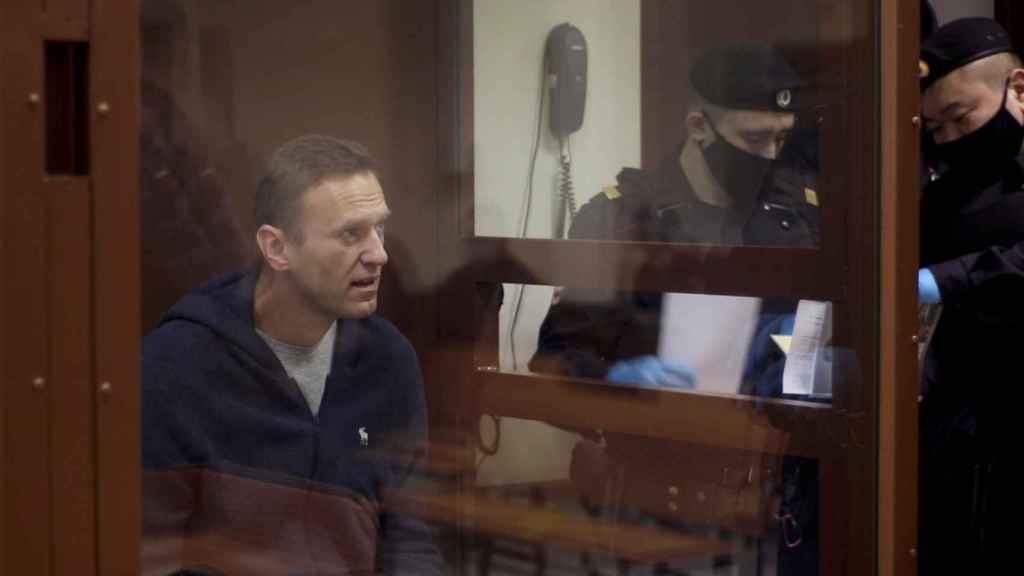 Alexéi Navalny, durante su juicio.