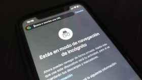 El modo incógnito de Chrome en el iPhone