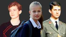 Felipe VI en sus estudios en Canadá, Leonor y Felie VI al ingresar en el ejército.
