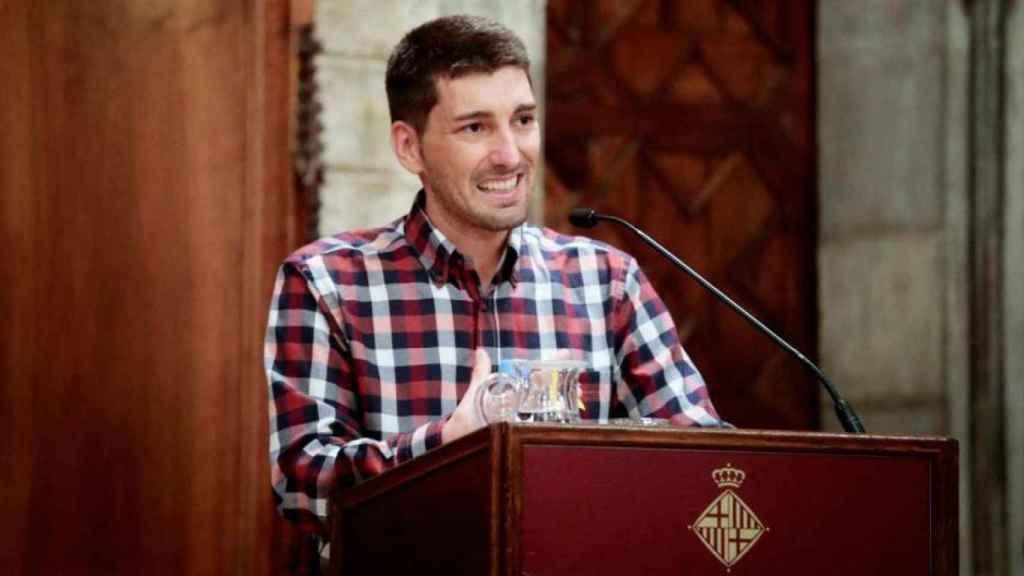 Oriol Mitjà, infectólogo catalán, durante la recepción del Premio Internacional Alfonso Comín en Barcelona.