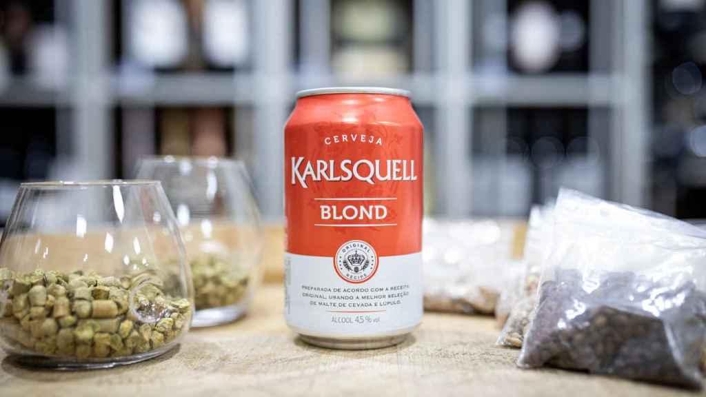 La cerveza Karlsquell, la marca blanca de Aldi.