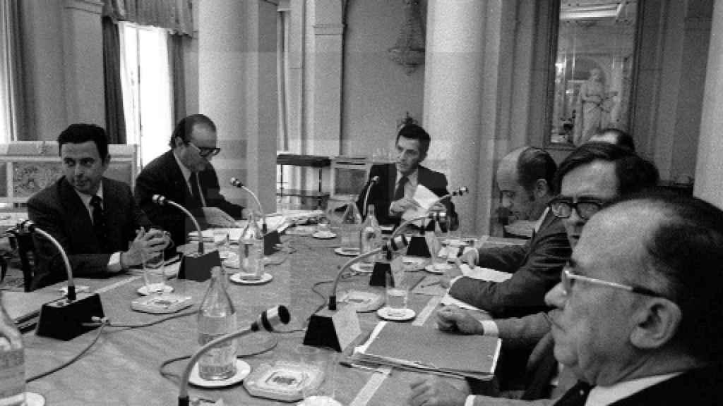 Consejo de Ministros del gabinete de Adolfo Suárez.