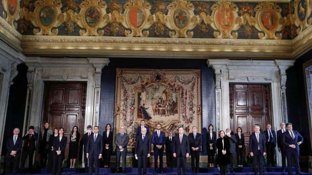 Gabinete de Draghi.