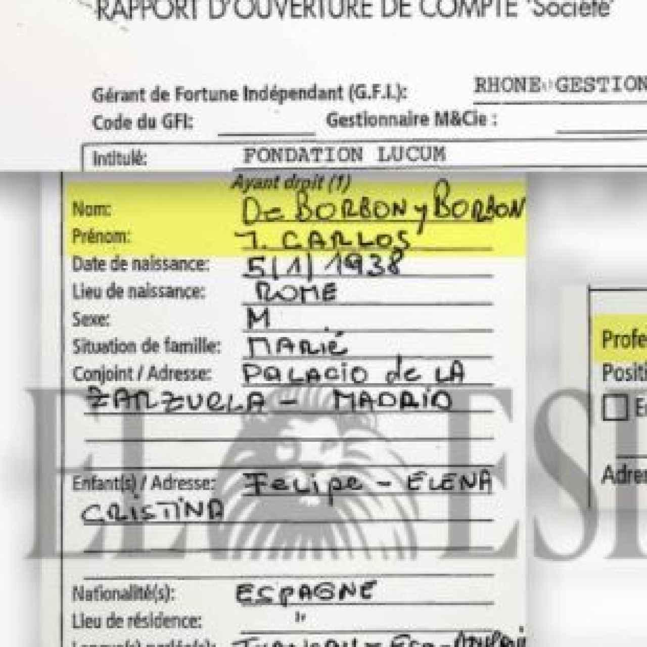 Documentos sobre el rey emérito desvelados por EL ESPAÑOL./