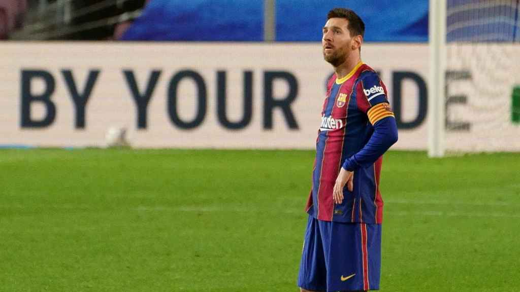 Messi, pensativo