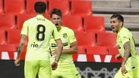 Marcos Llorente celebra su gol contra el Granada