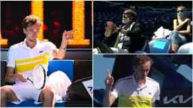 Medvedev y la escena más tensa del Open de Australia