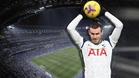 Bale y el Santiago Bernabéu, en un fotomontaje
