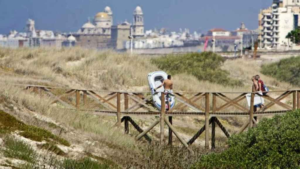 Pasarela de la playa de Cortadura