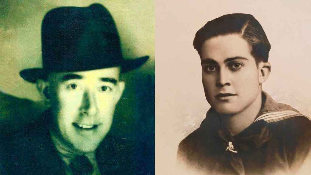 Diego Noguera Ortega y Antonio Inglés Andreu, dos cartageneros enterrados en fosas del cementerio de San Fernando.