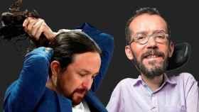Pablo Iglesias, vicepresidente segundo del Gobierno, y Pablo Echenique, portavoz de Unidas Podemos en el Congreso de los Diputados.