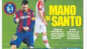 La portada del diario Mundo Deportivo (14/02/2021)