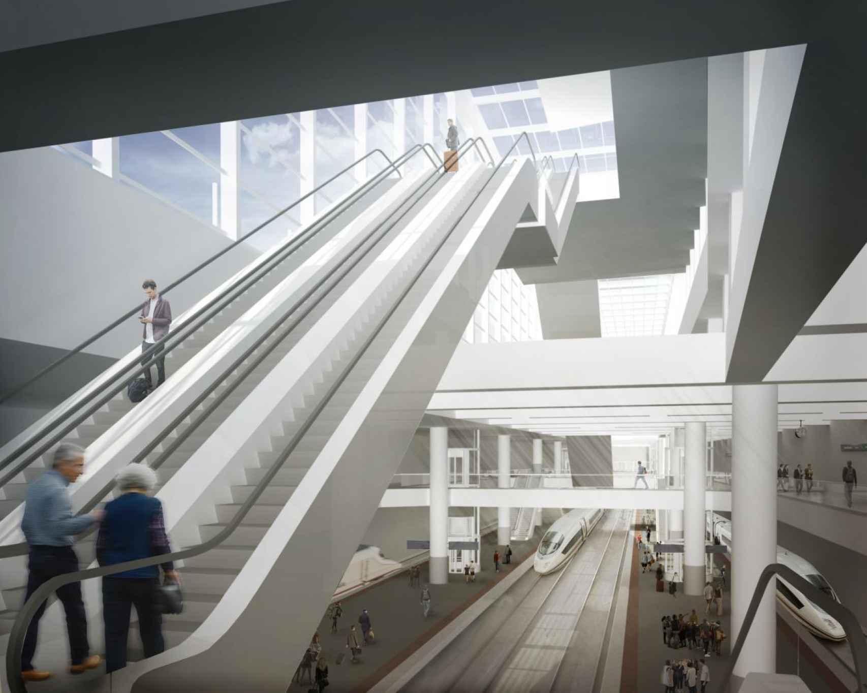 Recreación de las nuevas instalaciones de la estación de Atocha.