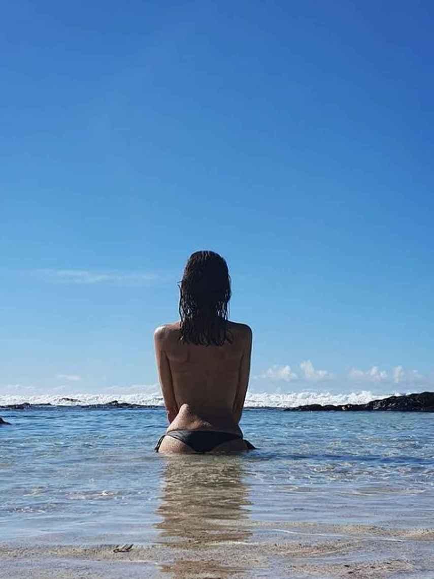 Himar González, en Fuerteventura, disfrutando de sus vacaciones.