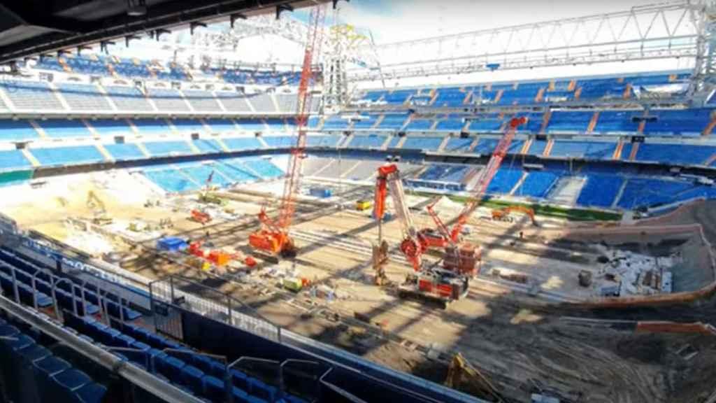 La imagen del interior del Estadio Santiago Bernabéu a mediados de febrero de 2021
