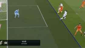 Gol anulado a Mendy por fuera de juego