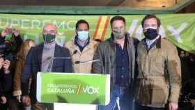 Jorge Buxadé, Ignacio Garriga, Santiago Abascal e Iván Espinosa de los Monteros