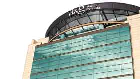 Un edificio con el rótulo de A&G Banca Privada.