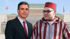Pedro Sánchez y Mohamed VI.