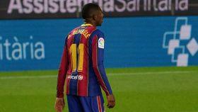 Ousmane Dembélé, durante un partido de esta temporada