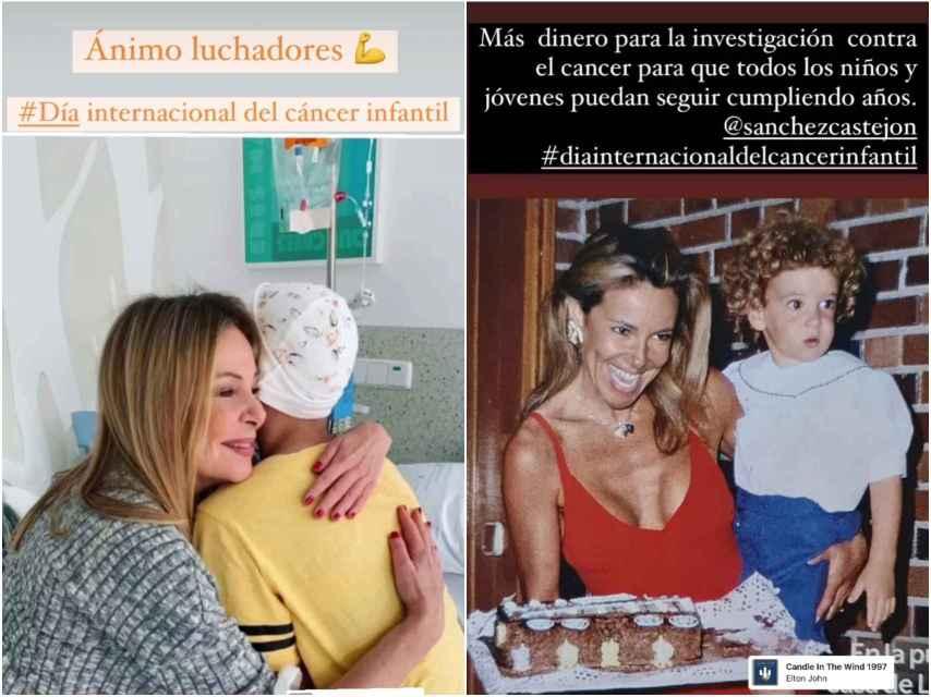 Ana García Obregón este lunes en los 'stories' de su Instagram.