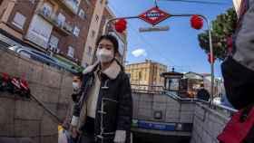 El barrio madrileño de Usera, en el que la celebración del Año Nuevo Chino ha sido cancelada. EFE/ Rodrigo Jimenez