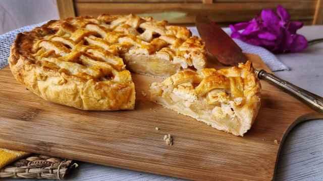 Tarta de manzana estilo Apple Pie americano