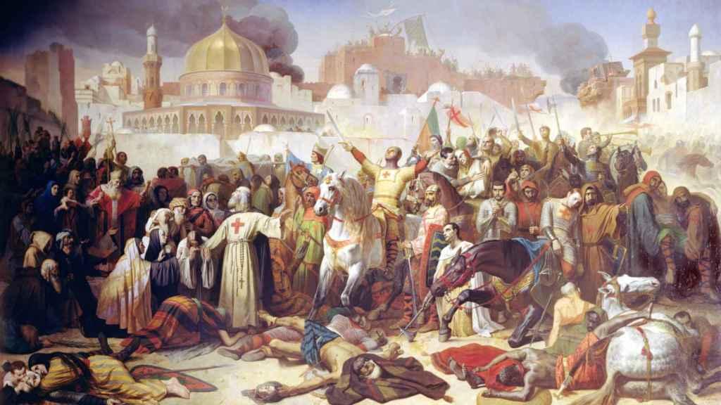 La conquista de Jerusalén (1099), según el pincel de Émil Signol.