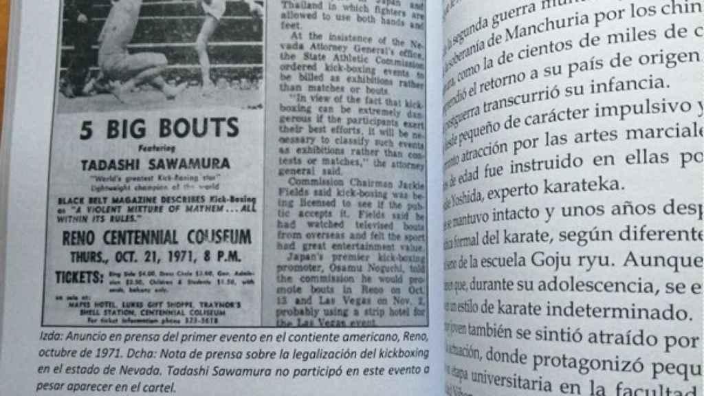 El libro 'Historia del kickboxing en Japón'