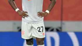 David Alaba, en un partido del Bayern Múnich de la temporada 2020/2021