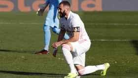 Karim Benzema, durante el partido frente al Valencia