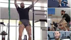 Sergio Ramos se entrena en el gimnasio